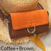 Chloe Popular Women Shopping Bag Leather Crossbody Satchel Shoulder Bag Coffee/Brown I-WXZ2H
