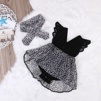 Summer 2017 Newborn 0-7Y Casual Baby Girls Kid Lace Sunsuit Tutu Romper and Lace Tutu Dress Party Pageant Dresses Headband