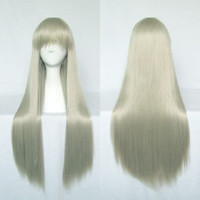 Anohana Tawny Wig Anime Cosplay Wig Straight 80cm Long Wig Heat Resistant Free Shipping