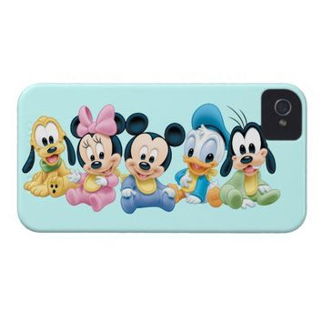 Baby Mickey Mouse and friends iPhone 4 Case-Mate Cases from Zazzle.com