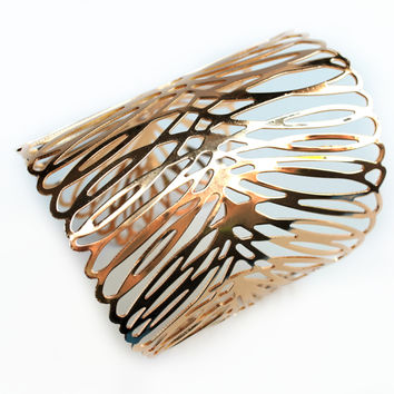 """Cuffed To Fashion"" Gold Cuff Bracelet"