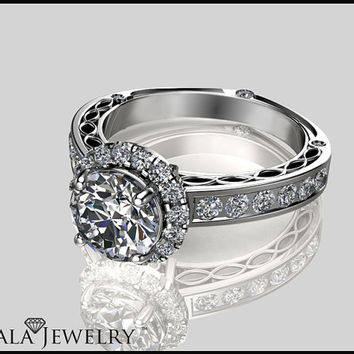 0.30CT Unique Engagment Ring,Wedding Rings,Engagment Ring,Israel,14K Solid Gold,Eternity Ring,14K Gold Ring,Handmade Ring,Ayala Jewelry