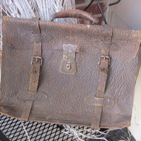 Leather Briefcase Steamtrunk Primitive COLLECTIBLE