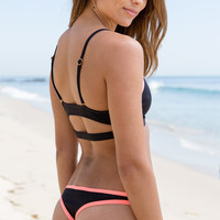 L*Space Swim - Cosmopolitan Itsy Bottom | Black & Coral