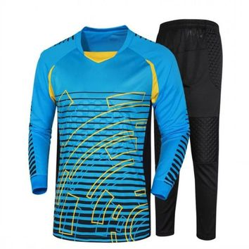 Jogging Football 2017 Soccer Doorkeepers Goalkeeper Jerseys Print Number Football Goalkeeper Training Uniforms Suit Costum LOGO