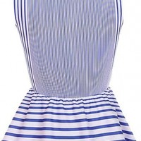 The Peplum Striped Top