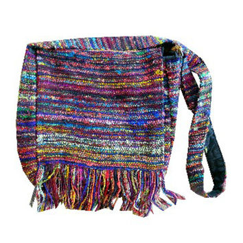 Recycled Silk Shoulder Bag - Nepal