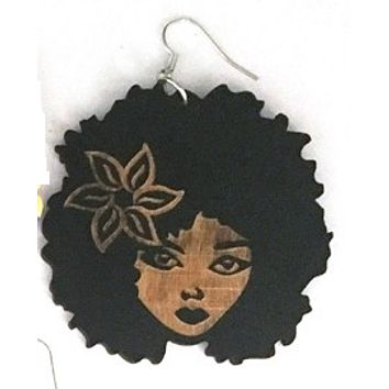 Kima earrings | Natural hair earrings | Afrocentric ear rings | jewelry | accessories