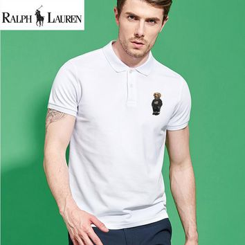 "Hot Sale RALPH LAUREN Mens ""Bear"" Polo Shirt 100% COTTON TOP"