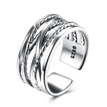 "Sterling Silver ""Inception"" Adjustable Ring"