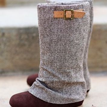 Girls Fall Vintage Italian Tweed Boot - Infant Girls Clothing