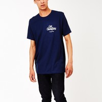 The Idle Man Les Cavaliers T-Shirt Navy