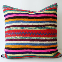 Sukan / SOFT Hand Woven Turkish Antique Kilim Pillow by sukan