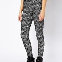 River Island Embossed Lace Trouser at asos.com
