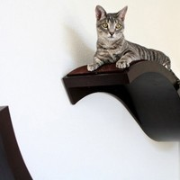 Urban Pet Haus Wave Wall Mounted Cat Perch, Large