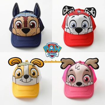 2018 Genuine PAW Patrol Cotton Cute Children's summer Hats Caps Headgear Chapeau Puppy Print Party Kids Birthday Gift toy