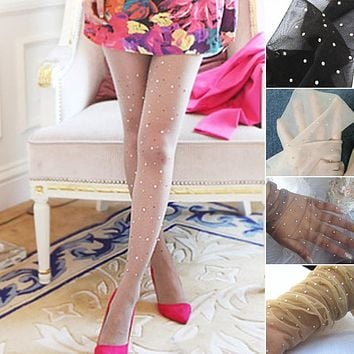 2017 New Design Women's Summer Sexy Net Fishnet Bodystockings Star Diamond Pantyhose Tights Stockings Free Size