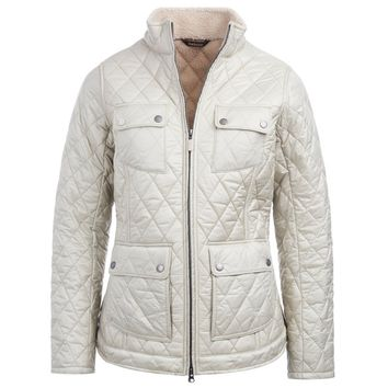 Filey Quilted Jacket in Mist by Barbour - FINAL SALE