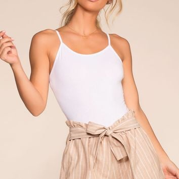 Festive Ready Stripe Shorts - Taupe