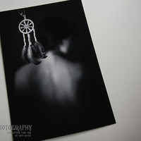 Black and white, Conceptual, Fine Art Print, Dreamcatcher (20x30 cm)