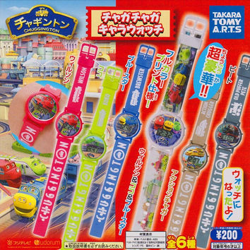 Takara Tomy Chuggington Gashapon Capsule Digital Watch 6 Figure Set