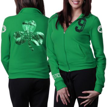 Rajon Rondo Boston Celtics Ladies Time Out Full Zip Track Jacket - Kelly Green