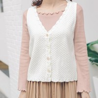 2017 Women Harajuku School College Retro Casual Knitted Vest Female Cute Japanese Kawaii Sweater Cardigan For Women