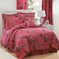 Camo Comforter Set on Sale | Realtree Hot Pink Camo Bedding