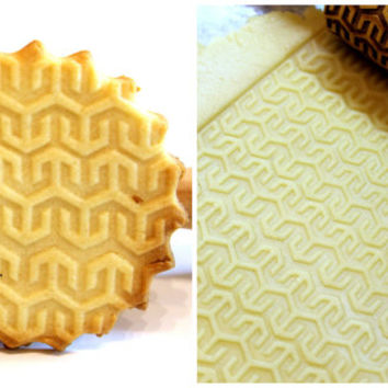 Geometric  Pattern Engraved Embossing Rolling Pin, EGYPT  Rolling Ping, Christmas Gift, Roller, Embossed Dough Roller, Lazer 4