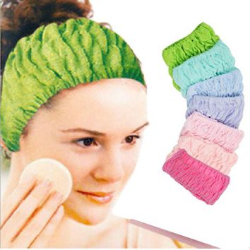 Amazing New Women Girls Towel Face Wash Shower Spa Makeup Hair Headband for Shower