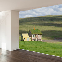 Paul Moore's Abandoned Farm House, Iceland Mural wall decal