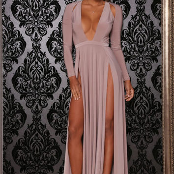 Envy Gown Taupe