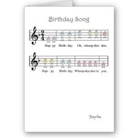 BIRTHDAY SONG GREETING CARD from Zazzle.com