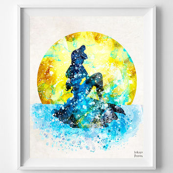 Disney Ariel, Little Mermaid, Girl Nursery, Ariel Print, Little Mermaid Art, Disney Princess, Ariel Poster, Disney Mermaid, Christmas Gift