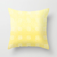 Sunny Triangles Throw Pillow by Kat Mun