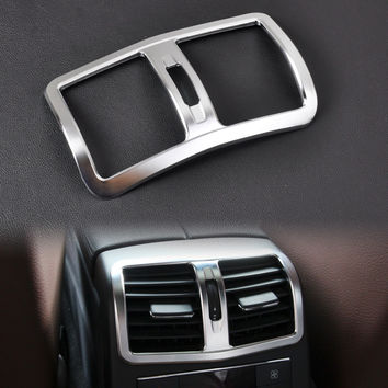 New Interior Chrome Armrest Box Rear Air Condition Vent Cover Trim Air Outlet decorative for Mercedes Benz W212 E Class 2013+