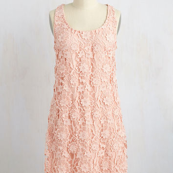 All I Ever Flaunted Lace Dress in Blush | Mod Retro Vintage Dresses | ModCloth.com