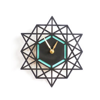 I liked this design on #Fab. Geometric Wall Clock