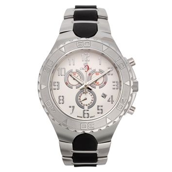 Croton Mens Stainless Steel Silvertone Chronograph Watch