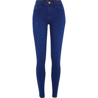 River Island Womens Bright mid blue Molly jeggings