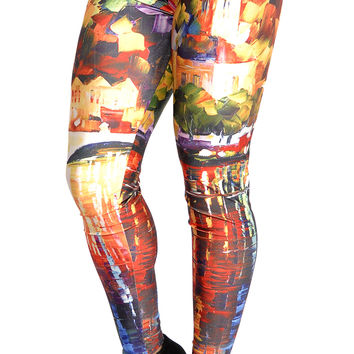 Oil Painting Leggings Design 168