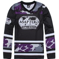 Young & Reckless Traplord Hockey Jersey - Mens Tee - Black
