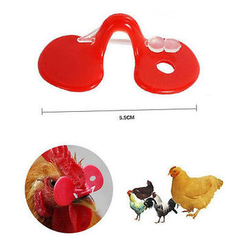 10pcs Creative Chicken Eyes Glasses Avoid Hen peck each other chicken farm TB