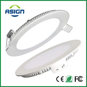 Dimmable Led Panel Downlight Ultra Thin 3w 4w 6w 9w 12w 15w 18w Round Ceiling Recessed Spot Light AC85-265V Painel lamp CE UL