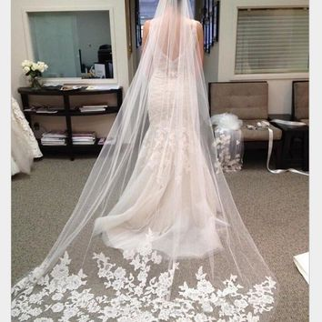 Bridal Veils 2018 White And Off White Veil 3 Meters Long Bridal Veil