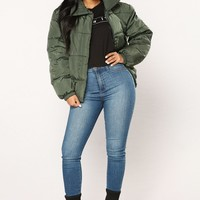 Camila Puffer Jacket - Hunter