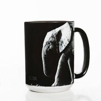 "New ELEPHANT ""STOP EXTINCTION"" 15 OZ CERAMIC COFFEE MUG   the mountain"