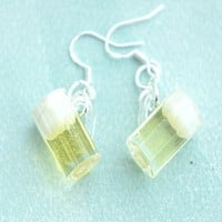 Beer Mug Dangle Earrings