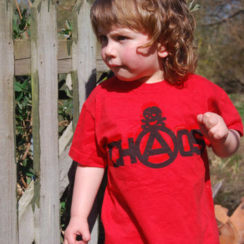 Chaos Childrens Screenprinted Tshirt by ThePirates on Etsy
