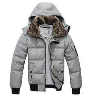 New Fashion Winter Mens Down Padded Short Section Of Thick Down Jacket Padded Cotton Jacket Men Clothing
